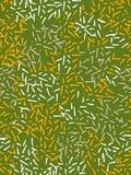 Bezszwowy wzór w stylu nakreślenia Kolor żółty, biel, beżowe vertical plamy na zielonym tle Ręka rysunkowy atrament Nowożytny Mi ilustracja wektor