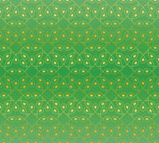Bezszwowy wzór w zieleni i złota kolorach ilustracja wektor
