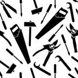 Bezszwowy wzór wektorowe ikony narzędzia royalty ilustracja