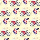 Bezszwowy wzór wiek dojrzewania bicykl, Jeździć na deskorolce royalty ilustracja
