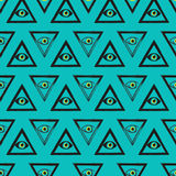 Bezszwowy wzór Wolnomularscy symbole Zdjęcie Stock