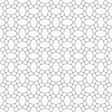 Bezszwowy wzór wyginać się linie Niezwykła kratownica Geometryczny bac Obraz Stock