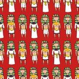 Bezszwowy wzór z ślicznymi pharaohs Fotografia Royalty Free