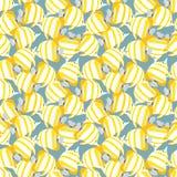 Bezszwowy wzór z żółtymi ryba Fotografia Royalty Free