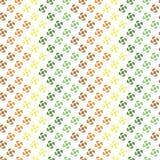 Bezszwowy wzór z abstrakcjonistyczni kształty układającym zygzag Zdjęcia Royalty Free
