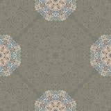 Bezszwowy wzór z abstrakcjonistycznymi elementami, adamaszek płytki Obrazy Royalty Free