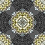 Bezszwowy wzór z abstrakcjonistycznymi elementami, adamaszek płytki Zdjęcie Royalty Free