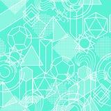 Bezszwowy wzór z abstrakcjonistycznymi geometrycznymi kształtami Kreskowej sztuki tło Fotografia Stock