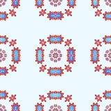 Bezszwowy wzór z Abstrakcjonistycznymi Lotosowymi kwiatami Obraz Stock