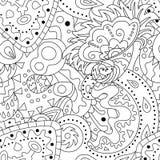 Bezszwowy wzór z abstrakcjonistycznymi ornamentami Obraz Royalty Free