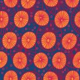 Bezszwowy wzór z abstrakcjonistycznymi pomarańczowymi okręgami Zdjęcia Royalty Free