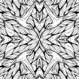 Bezszwowy wzór z abstraktów hummingbirds i kwiatami Dorosły c royalty ilustracja