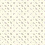 Bezszwowy wzór z abstraktów liśćmi i polek kropkami Fotografia Stock