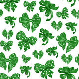 Bezszwowy wzór z akwarela rysunku zieleni łękami Obraz Stock