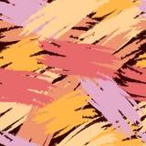 Bezszwowy wzór z akwareli geometryczną kolorową dekoracją Fotografia Royalty Free