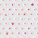 Bezszwowy wzór z akwareli menchiami kwitnie w okręgach Zdjęcia Royalty Free