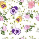 Bezszwowy wzór z altówka kwiatem ilustracji