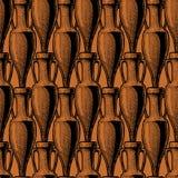 Bezszwowy wzór z amforą ilustracja wektor