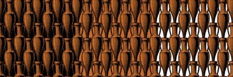 Bezszwowy wzór z amforą Obraz Royalty Free