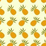 Bezszwowy wzór z ananasem Obraz Stock