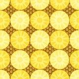 Bezszwowy wzór z ananasem Obrazy Stock