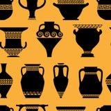 Bezszwowy wzór z antykwarskim ceramics royalty ilustracja