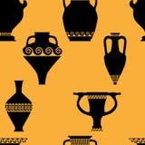 Bezszwowy wzór z antykwarskim ceramics Zdjęcie Royalty Free