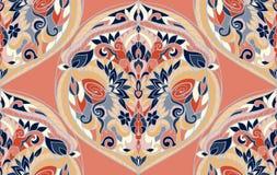 Bezszwowy wzór z arabesk w retro stylu Obrazy Royalty Free