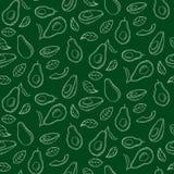 Bezszwowy wzór z avocado Zdjęcie Royalty Free