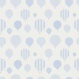Bezszwowy wzór z balonami. Zdjęcia Royalty Free