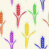 Bezszwowy wzór z barwiącymi tęczy banatki kolcami ilustracji