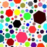 Bezszwowy wzór z barwionymi geometrycznymi kształtami Fotografia Stock
