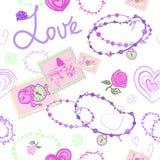 BEZSZWOWY wzór Z, biżuteria DLA dziewczyn I royalty ilustracja