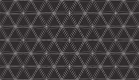 Bezszwowy wzór z Biały Przecinać Wykłada na Czarnym tle Obrazy Royalty Free