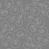 Bezszwowy wzór z białym curlicue Obrazy Stock