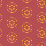 Bezszwowy wzór z Burgundy tłem Zdjęcie Stock