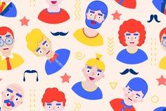 Bezszwowy wzór z chłopiec ilustracji