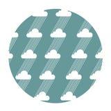 Bezszwowy wzór z chmurami i deszczem Zdjęcia Royalty Free