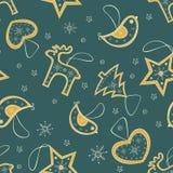 Bezszwowy wzór z choinki dekoracją Zdjęcie Stock