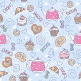Bezszwowy wzór z cukierkami Fotografia Stock