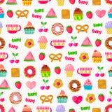 Cukierki wzór Obrazy Stock