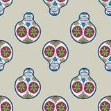 Bezszwowy wzór z cukrową czaszką wektor Fotografia Royalty Free