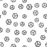 Bezszwowy wzór z czarny i biały kostkami do gry ilustracji