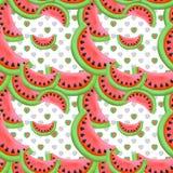 Bezszwowy wzór z czerwonym arbuzem Fotografia Stock