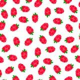 Bezszwowy wzór z czerwonymi jagodami Obraz Stock
