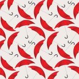 Bezszwowy wzór z czerwonymi parasolami Zdjęcie Royalty Free