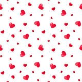 Bezszwowy wzór z czerwonymi sercami. Zdjęcie Royalty Free