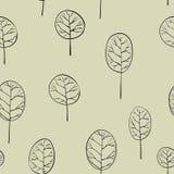 Bezszwowy wzór z deciduous drzewami Fotografia Royalty Free