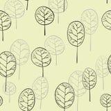 Bezszwowy wzór z deciduous drzewami Fotografia Stock