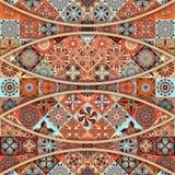 Bezszwowy wzór z dekoracyjnymi mandalas Rocznika mandala elementy Obraz Stock